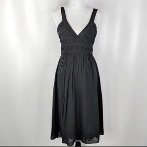 THEORY Liv empire waist ruched dress